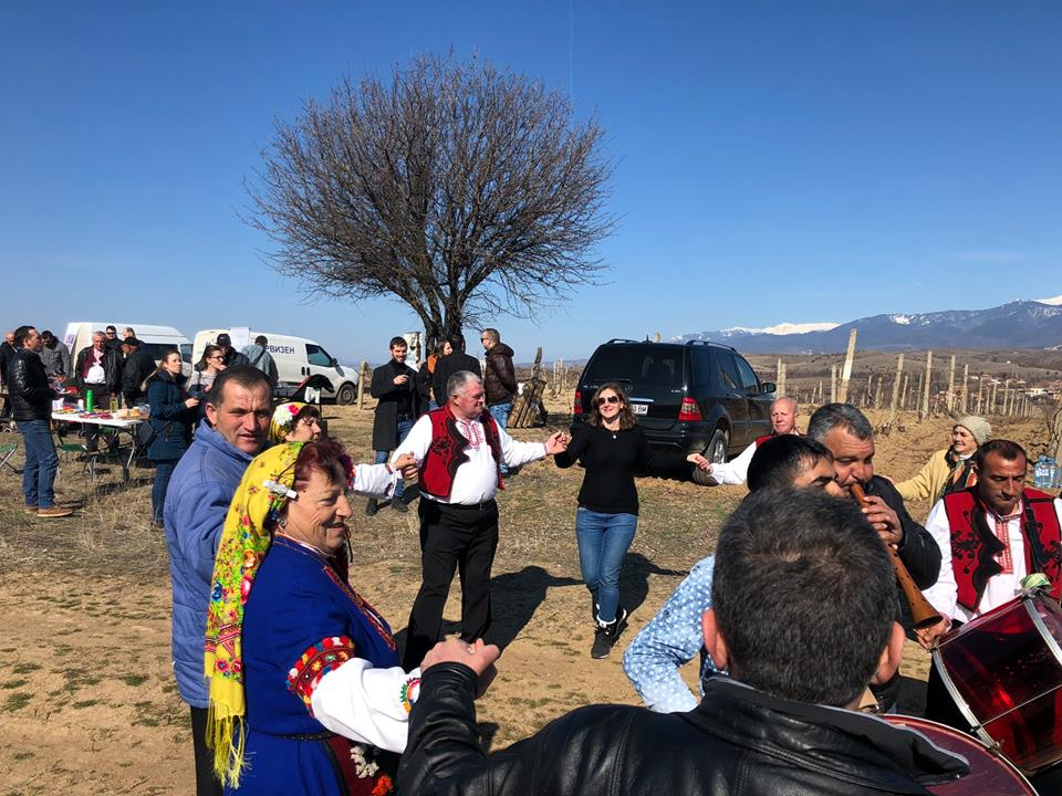 Over 200 people visited Augeo's vineyards for Trifon Zarezan