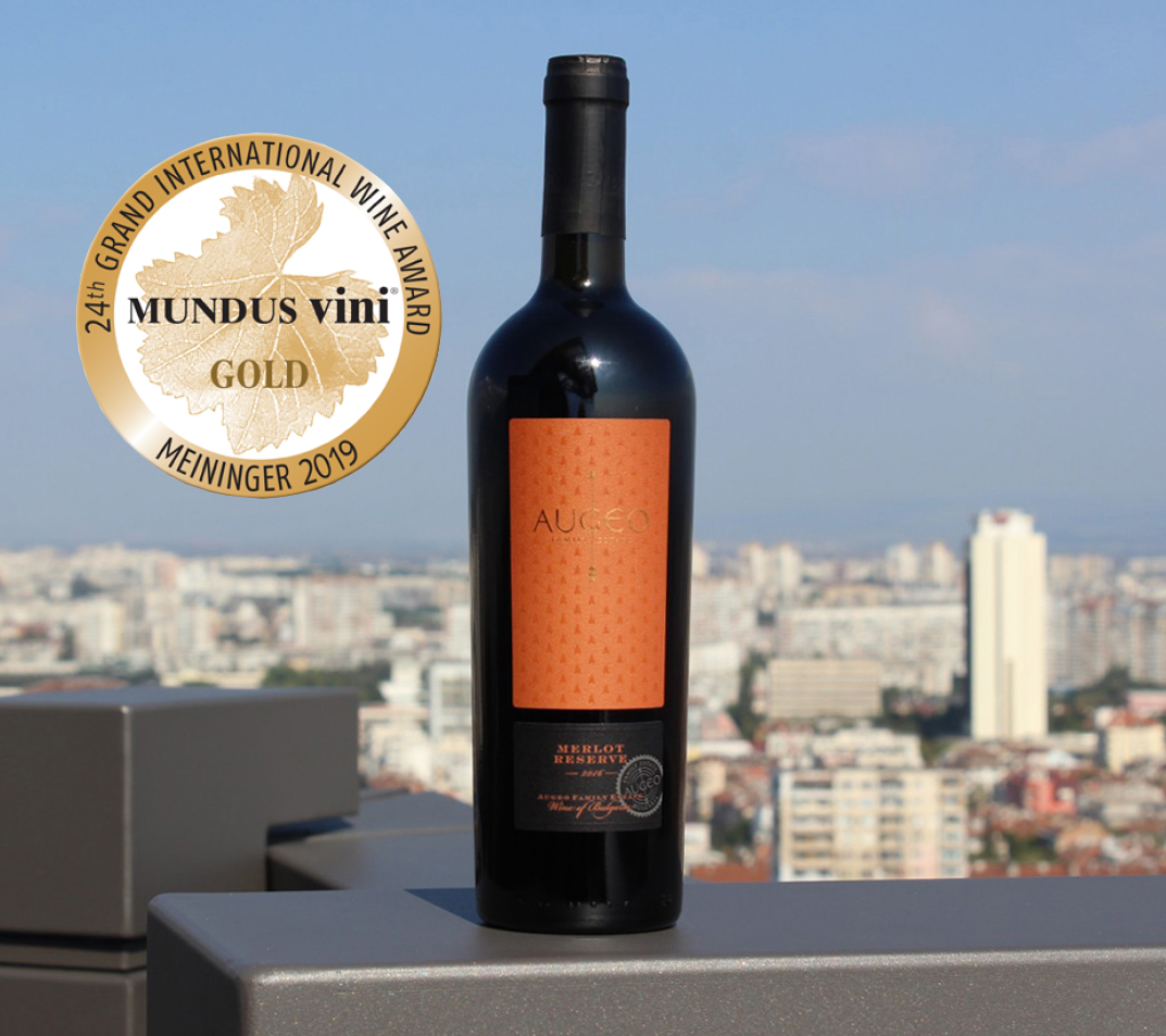 Augeo Merlot with Gold Medal at Mundus Vini