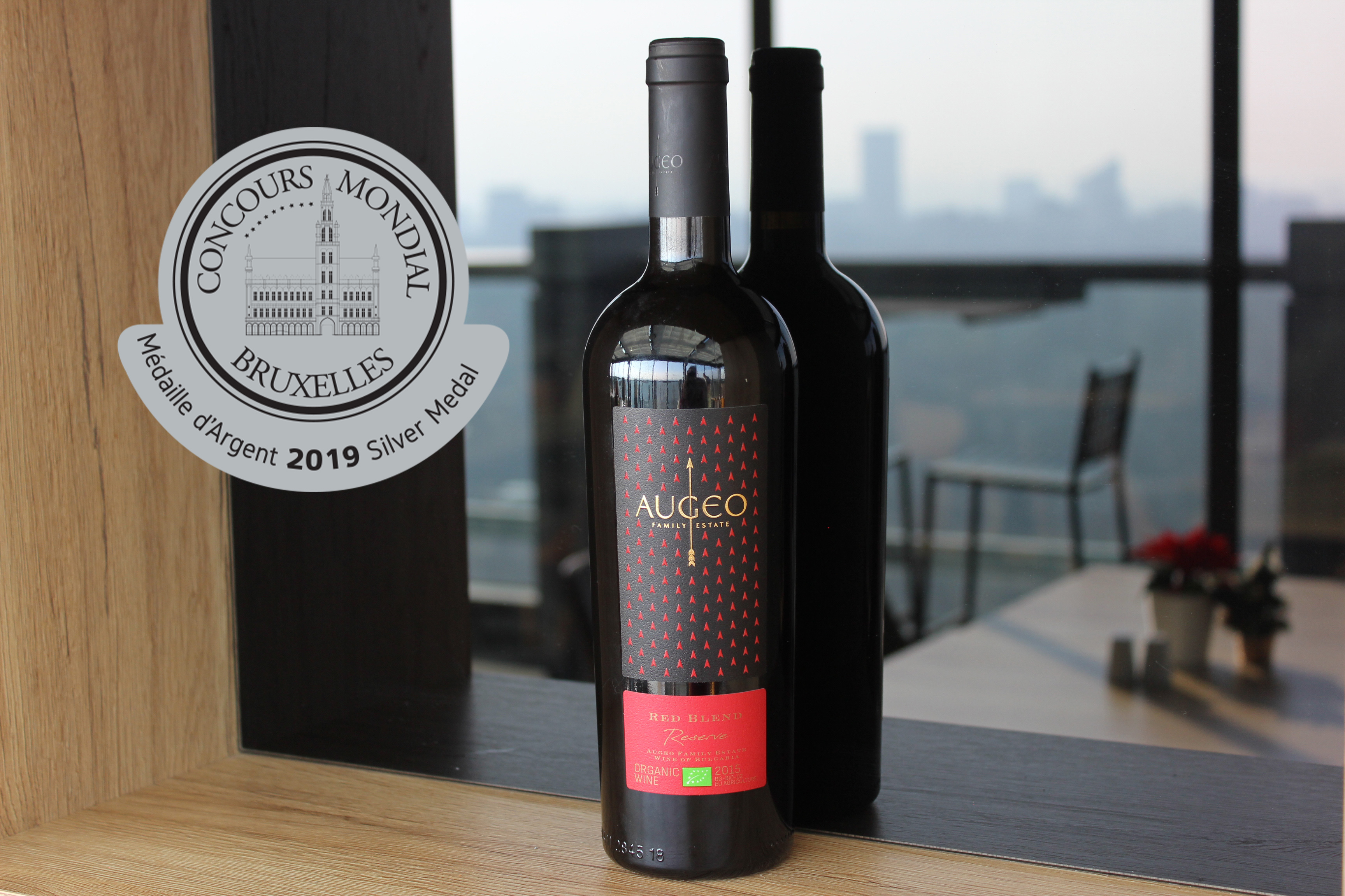 Augeo Red Blend with a Silver medal ‎