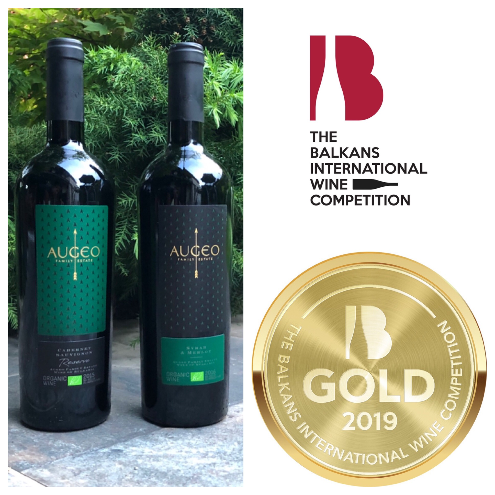Two gold medals for Augeo's Bio wines
