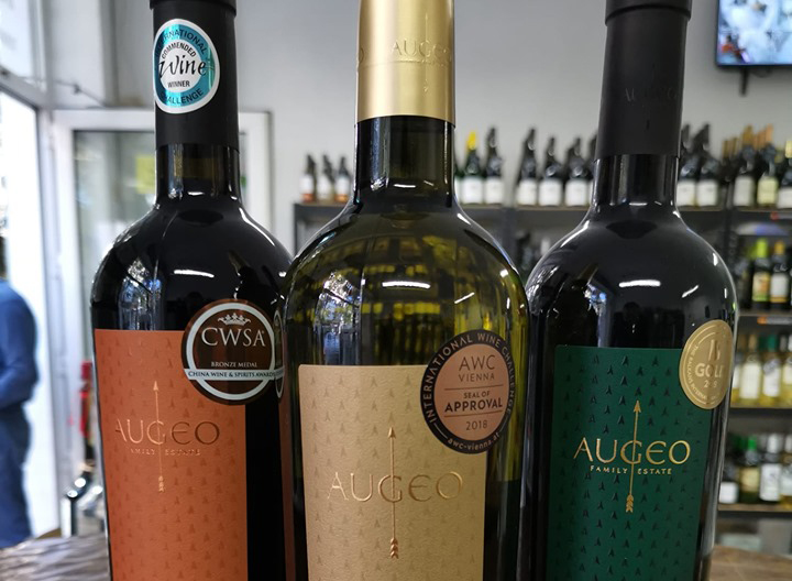 Wine tasting of Augeo at Emporium.Wine