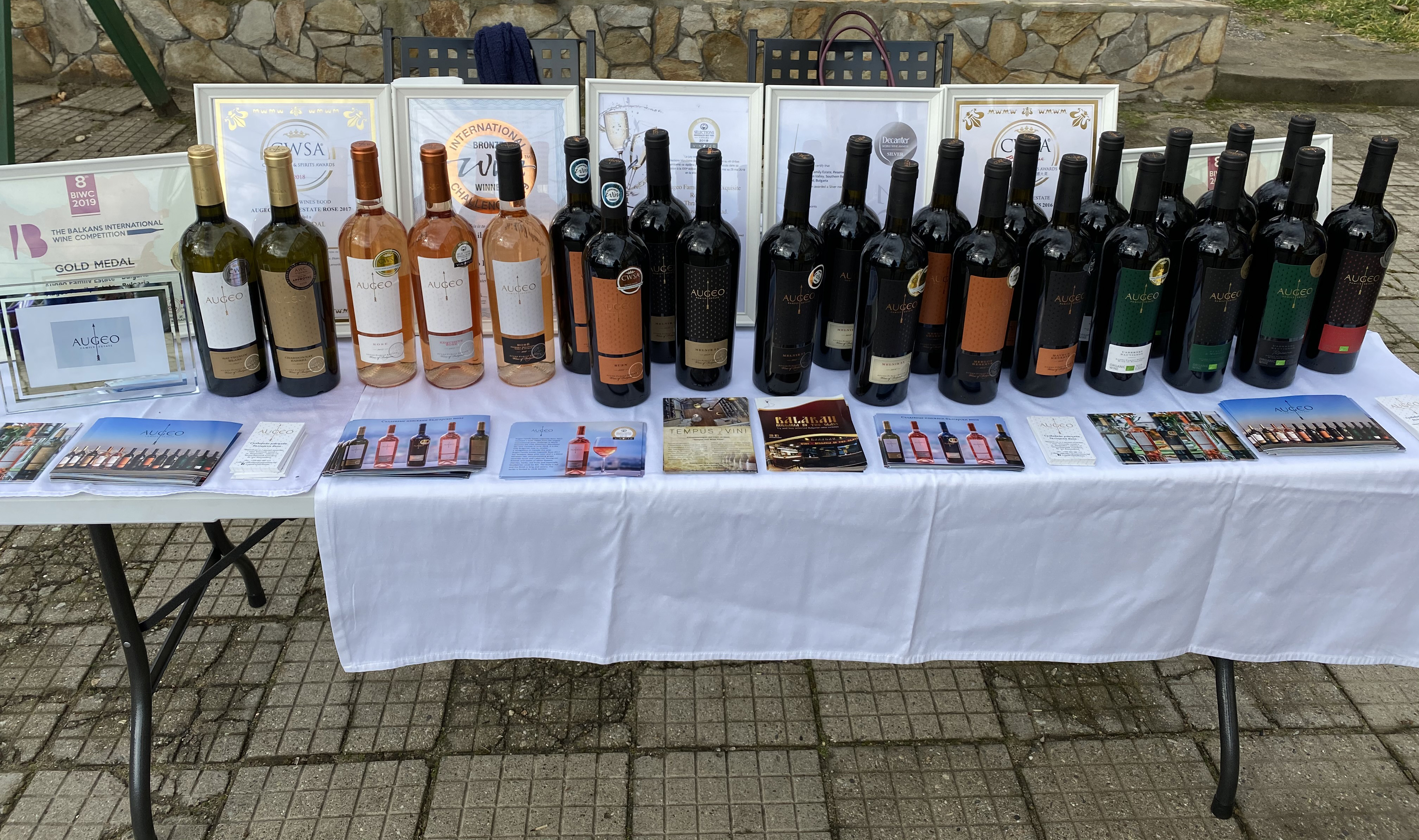 Augeo Family Estate and over 200 people celebrated the wine holiday